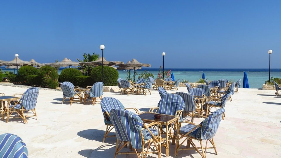 Umbrellas Holiday Hotel Relaxation Sea Tables
